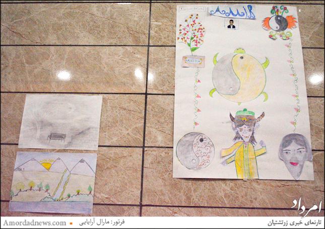 نقاشی یکی از بیماران خردسال دیالیزی