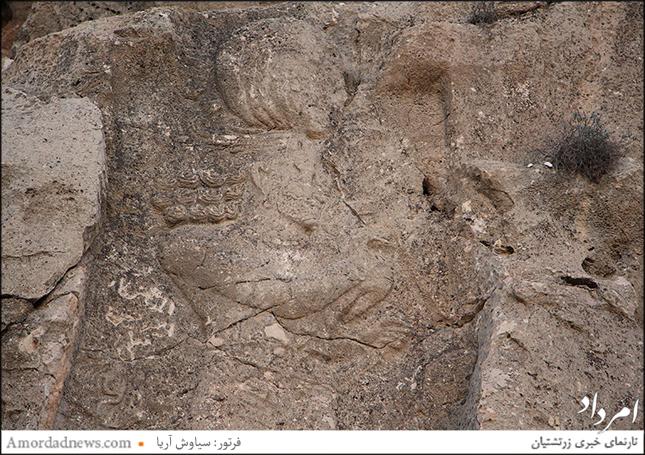 نگاره سال 96 از بهرام دوم که سالم بوده است