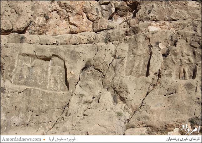 سنگ نگاره های ساسانی نامدار به برم دلک شیراز