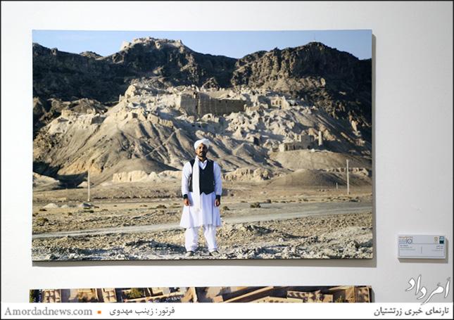 فرتور زریر نجمی عکاس زرتشتی در میان فرتورهای نمایشگاه ده روز با عکاسان