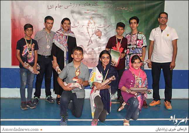 تیم باشگاه اردشیر همتی کرمان مقام سوم مینی والیبال