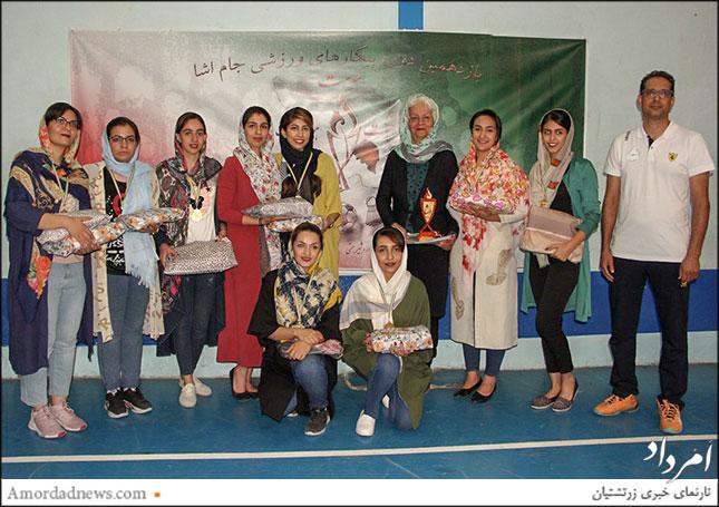 تیم باشگاه اردشیر همتی کرمان مقام نخست والیبال بانوان