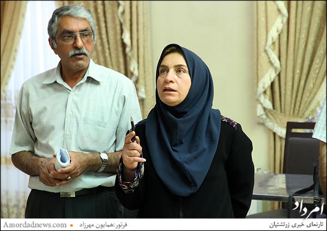 پروین صیدی نمایندهی وزارت کشور در انتخابات گردش 44 انجمن زرتشتیان تهران