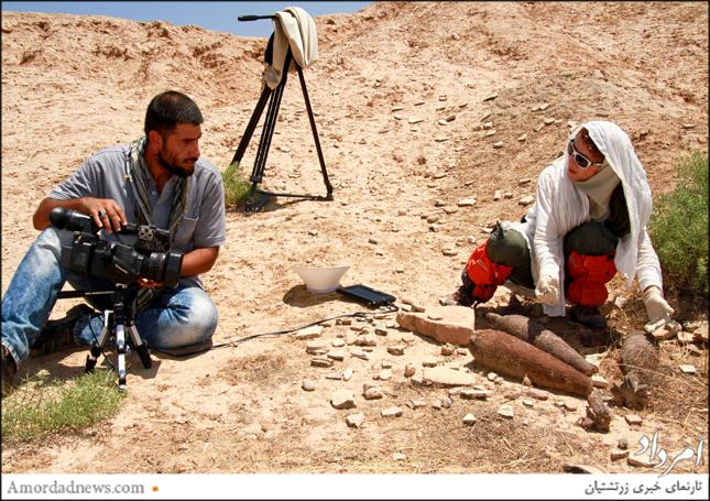 صحنهی فیلمبرداری از فیلم مستند وه انتیوک شاپور
