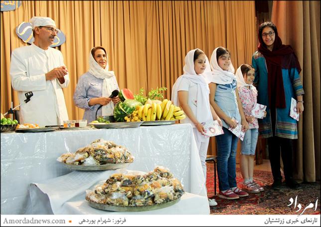 تقدیر از خردسالان و استادشان بابت گاتها خوانی گروهی در گهنبار توجی شیراز