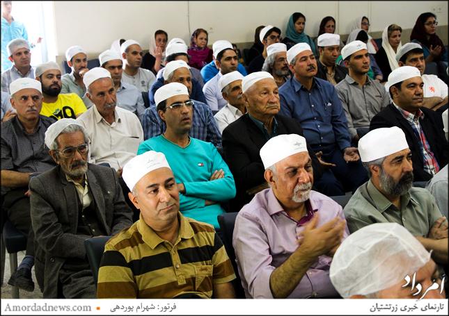 گهنبار توجی در تالار روانشاد یزدانی در مجموعه دینی، فرهنگی، ورزشی زرتشتیان شیراز برگزار شد