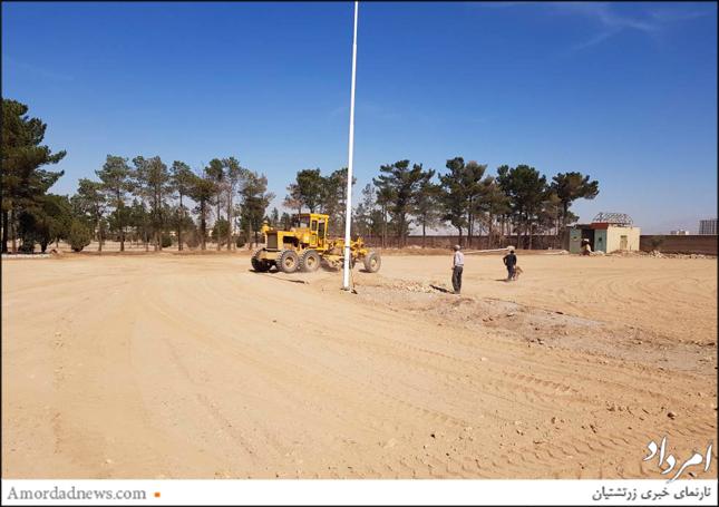 بهسازی و بازسازی آرامگاه از سوی انجمن زرتشتیان یزد در دست انجام است