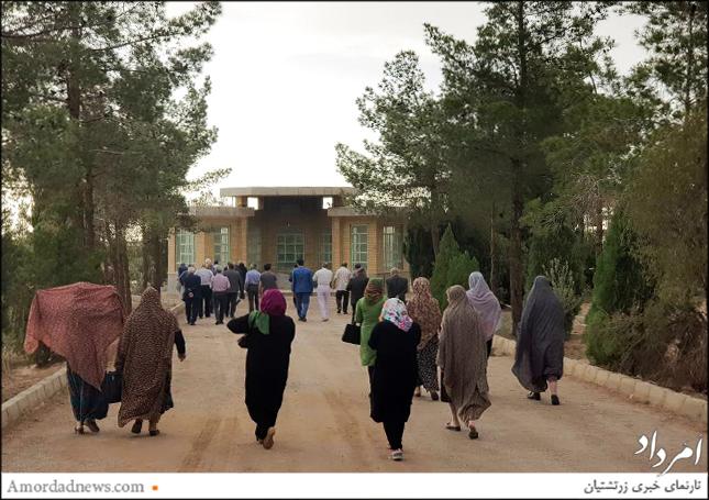 باشندگی شماری از زرتشتیان برای بهرهبهرهبرداری از چاه آرامگاه یزد