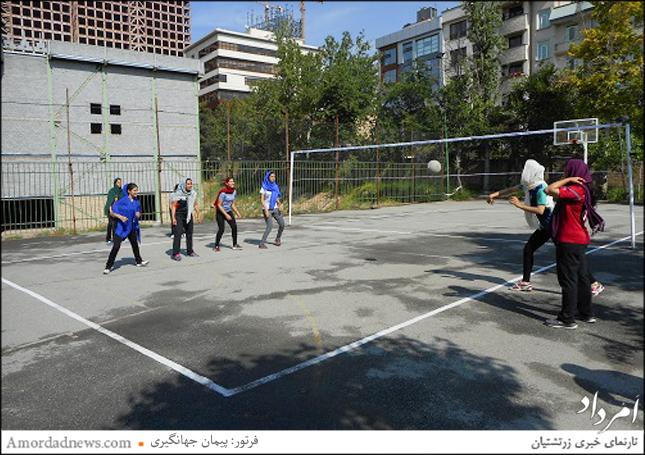 برگزاری بازی دوستانهی داژبال در آدریان بزرگ تهران
