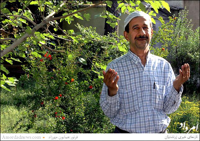 فرهاد کاویانی هموند هیاتمدیرهی گردش 43 انجمن زرتشتیان تهران در گهنبار پارسایی شرکت کرد