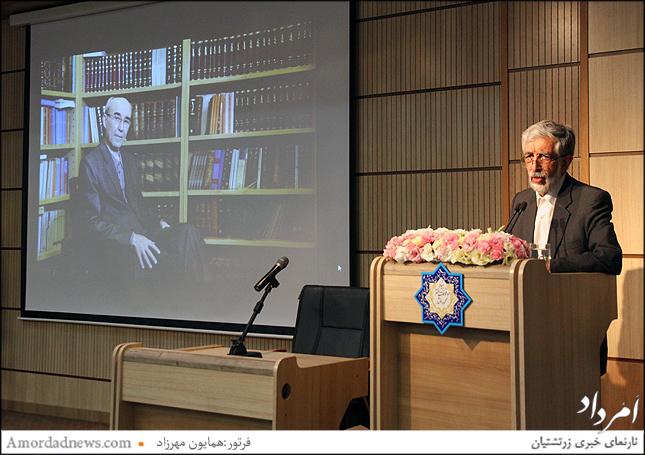 دکتر غلامعلی  حداد عادل رییس فرهنگستان زبان و ادب فارسی ایران