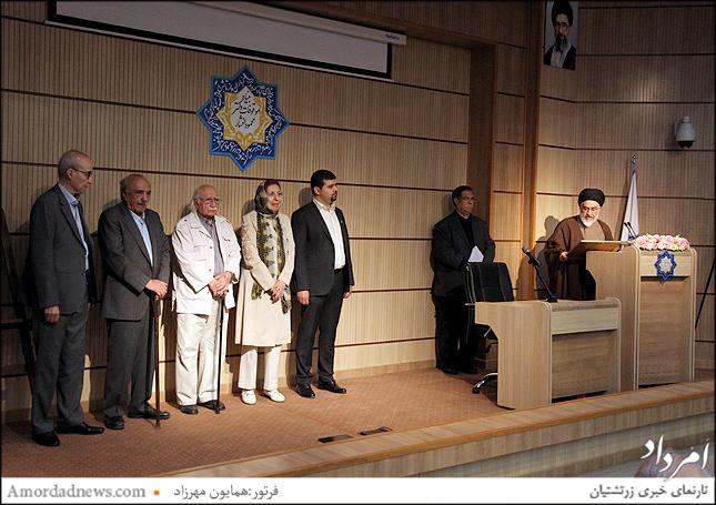 ازسمت چپ:علی اشرف صادقی، حسن انوری، فتح الله مجتبایی، ژاله آموزگار، محمد افشین وفایی