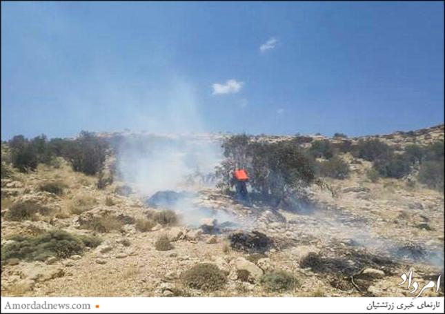 آتشسوزی در جنگل مروارید از سهشنبه 29 خورداد آغاز شد