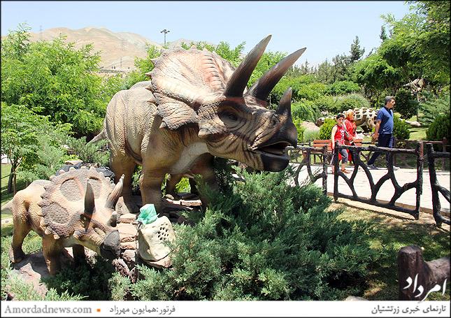 آرینو سراتوپس در پارک ژوراسیک تهران