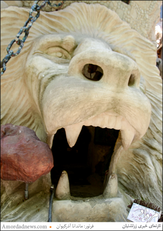 تندیسهای  زیبا از حیوانات در باغموزه ی وزیری