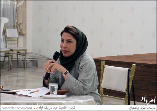 دکتر افسر افشار نادری، مشاور فرهنگی خانواده، در سخنرانی سازمان زنان زرتشتی