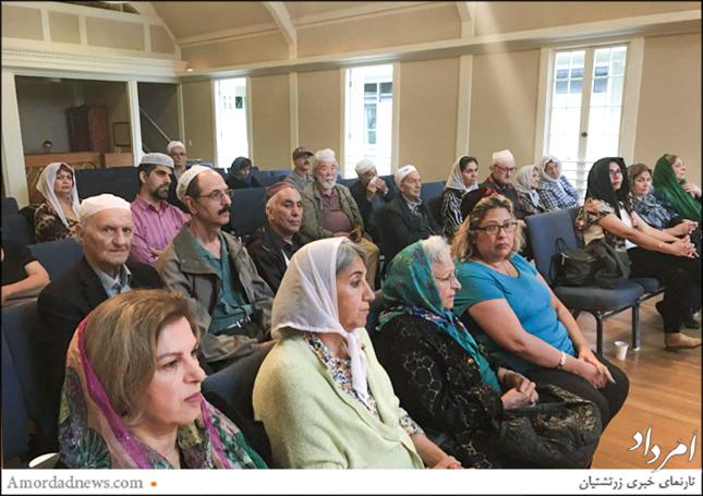 انجمن زرتشتیان کرکلند آمریکا آیین گهنبارخوانی چَهرهی میدیوشهم را در کلیسای این شهر برگزار کرد