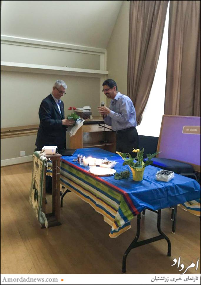 سپاسگزاری انجمن زرتشتیان سیاتل از فریبرز رهنمون برای کوششهای وی در برگزاری گهنبار میانهی تابستان در کلیسای کرکلند آمریکا