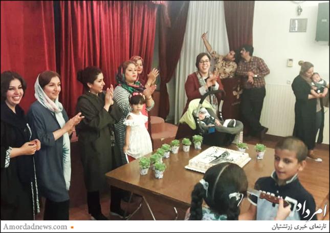 با نوآوری و کوشش باشگاه جانباخته کامران گنجی، به فرخندگی ورهرام ایزد جشن مشترک زاد روز برگزار شد