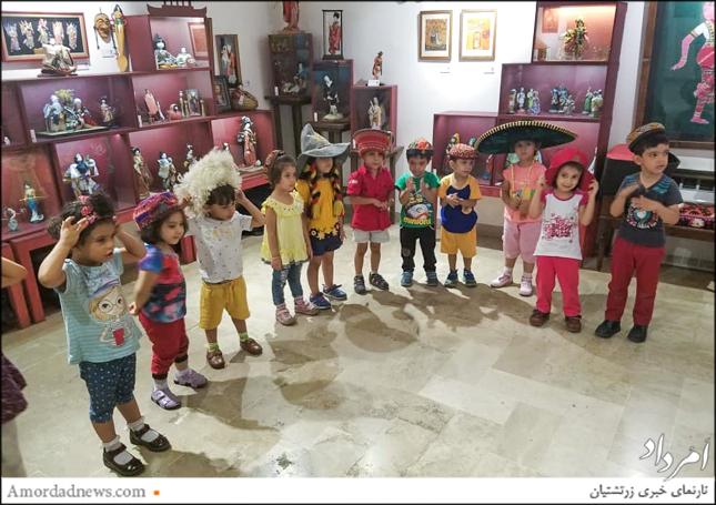 کودکان زرتشتی با پوشش مردمان دیگر کشورها آشنا شدند