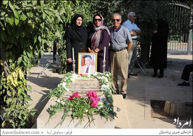 برادر بزرگ زنده یاد شهبازی، محسن شهبازی و خواهر ایشان نازیلا شهبازی و بانو رستمی مدیر مجموعه آرامگاه حافظ