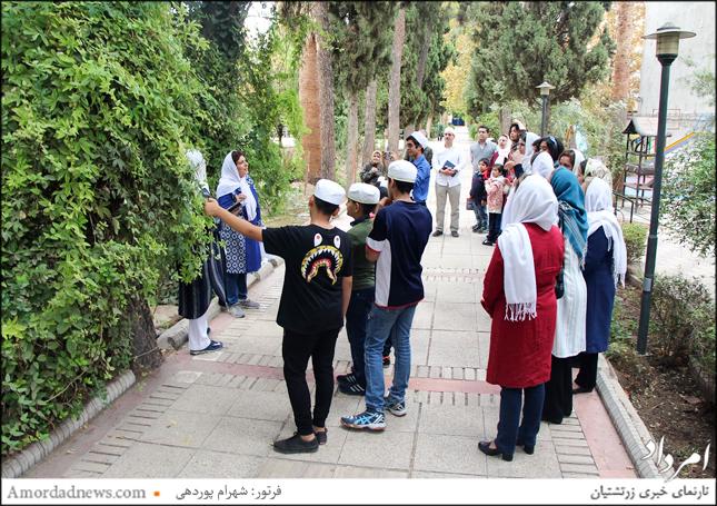 سخنرانی ناهید فلفلی فرنشین کمیسیون دینی انجمن زرتشتیان شیراز