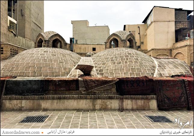 مهرازی زیبای پشت بام حمام نواب در خیابان جاویدی اودلاجان