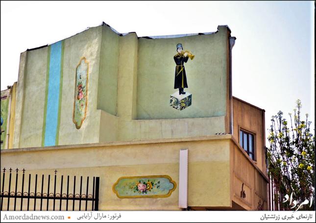 دیوارنگاری در خیابان ناصرخسرو برگرفته از نگارههای کاخ گلستان