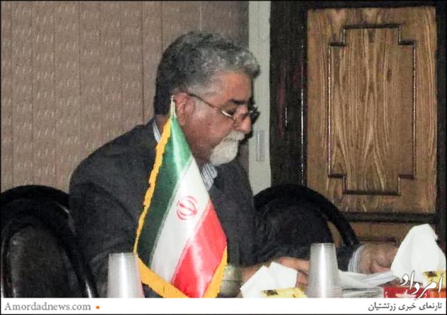 دکتر مهربان اردشیریان، برگزارکنندهی نشست اتاق بازرگانی زرتشتیان ایران