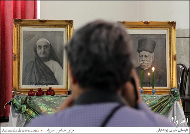 تصاویر بانو راتن بایی بانجی وجمشید جی تاتا از مدرسه سازان پارسی