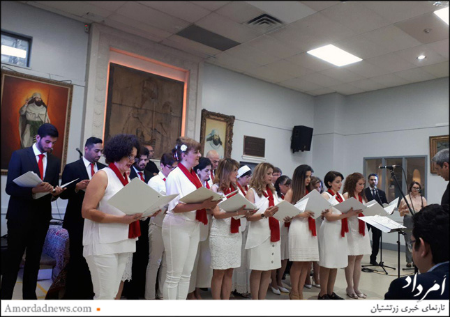 سرود همسرایان در آیین جشن اردیبهشتگان تورنتو