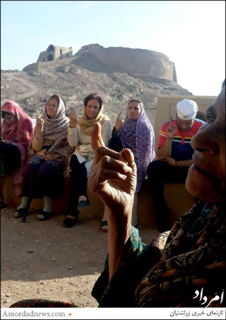 آیین گهنبار توجی به یاد هماروانان در برج خاموشان چم از توابع تفت برگزار شد