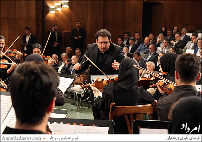 رهبر ارکستر دانشگاه تهران سهراب کاشف