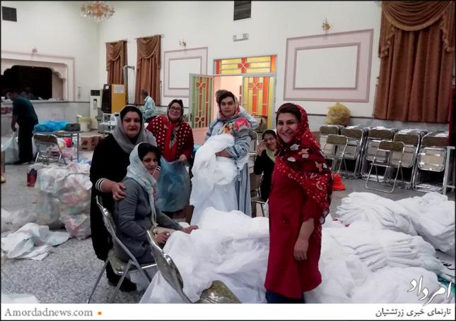 همیاری زرتشتیان کوچهبیوک یزد در آمادهسازی کالاهای ارسالی