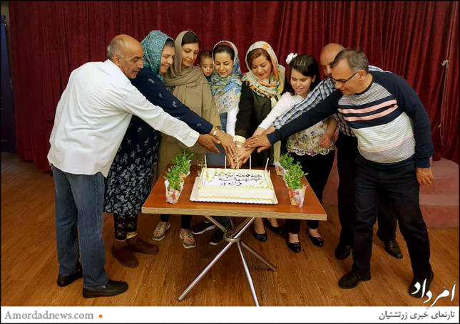 جشن زادروز گروهی به خجستگی ورهرام ایزد به کوشش باشگاه جانباخته کامران گنجی برگزار شد