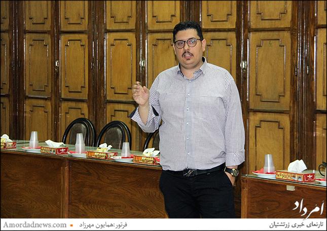 سخنران نشست کارشناسی اتاق بازرگانی زرتشتیان ایران: دکتر نوذر نوذری
