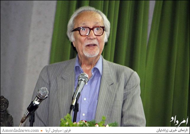 استاد فریدون جنیدی، شاهنامه پژوه و نویسنده و مدیر بنیاد نیشابور تهران سخنانی را درباره فرهنگ ایرانی و شاهنامه بیان کرد