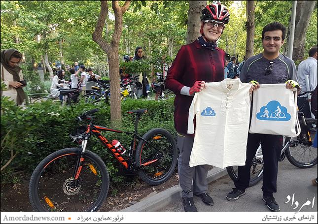 سپاسداری از سعیده میرطالب زاده نایب سرپرست هیات دوچرخه سواری شمال شرق تهران
