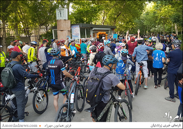 جمع زیادی از دوچرخه سواران تهران در 13 خرداد روز جهانی دوچرخه شرکت کردند