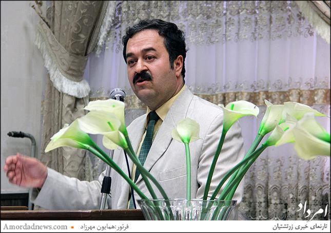 پدرام سروشپور سخنران پرسه خلبان کیقباد اردشیری
