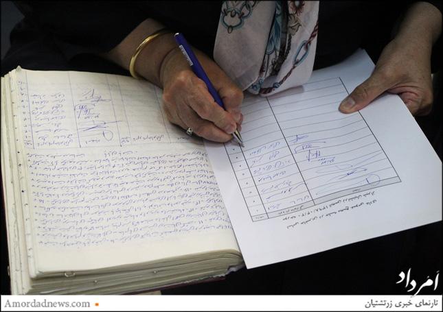 امضای صورتجلسه مجمع توسط باشندگان