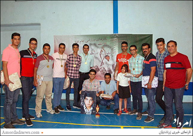تیم یاران رامتین(سازمان و باشگاه جوانان زرتشتی یزد) مقام اول والیبال آقایان