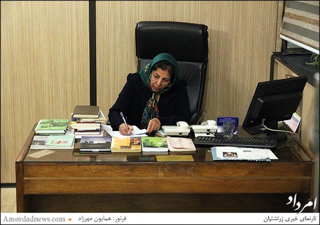 ناهید استقامت مسوول گردشگری آتشکده تهران