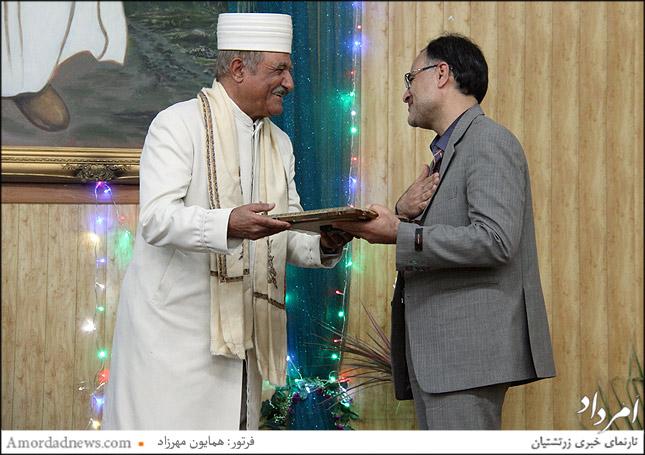 سپاسداری از میردهقان مسوول امور ادیان در وزارت ارشاد اسلامی