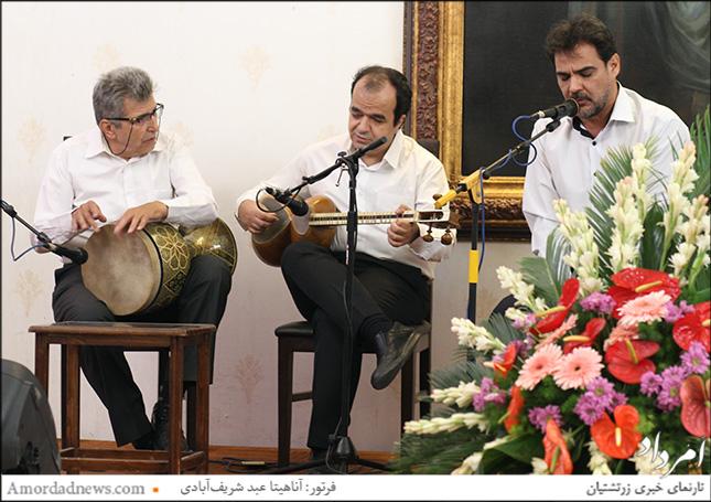 اجرای موسیقی زنده با همکاری فرزین ذوالقدر، بهنام جاوید و مسعود قدوسی