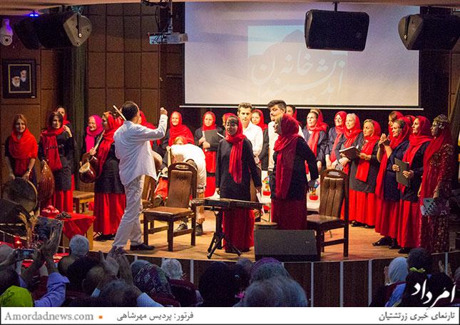 اجرای موسیقی گروه همسرایان امید