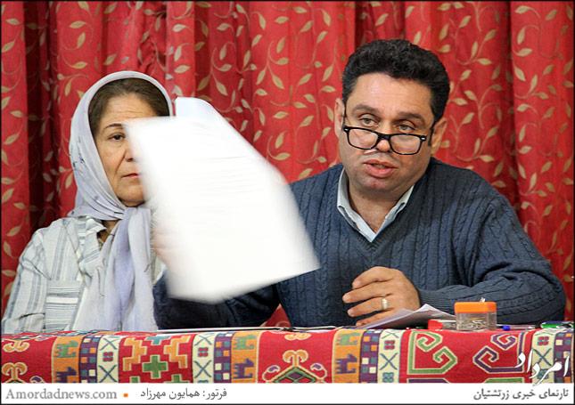 اردشیر اورمزدی رییس جلسه هیات نظارت انتخابات سازمان فروهر