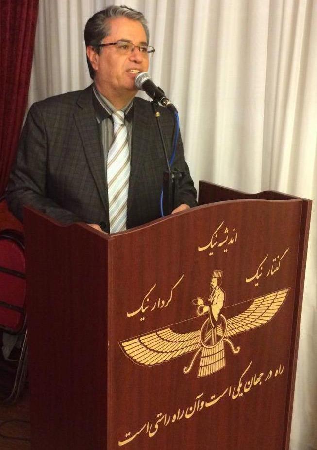 مهران زندهنوش، فرنشین انجمن زرتشتیان کرج