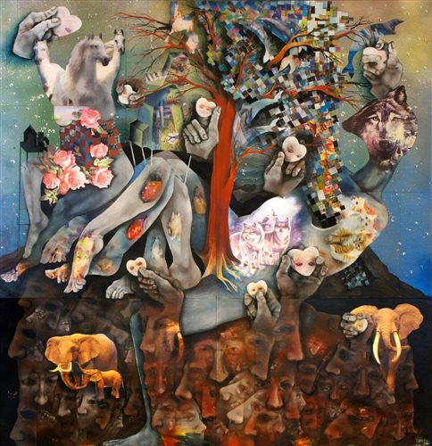 نمایشگاه روایت سوم از آثار الهیار نجفی