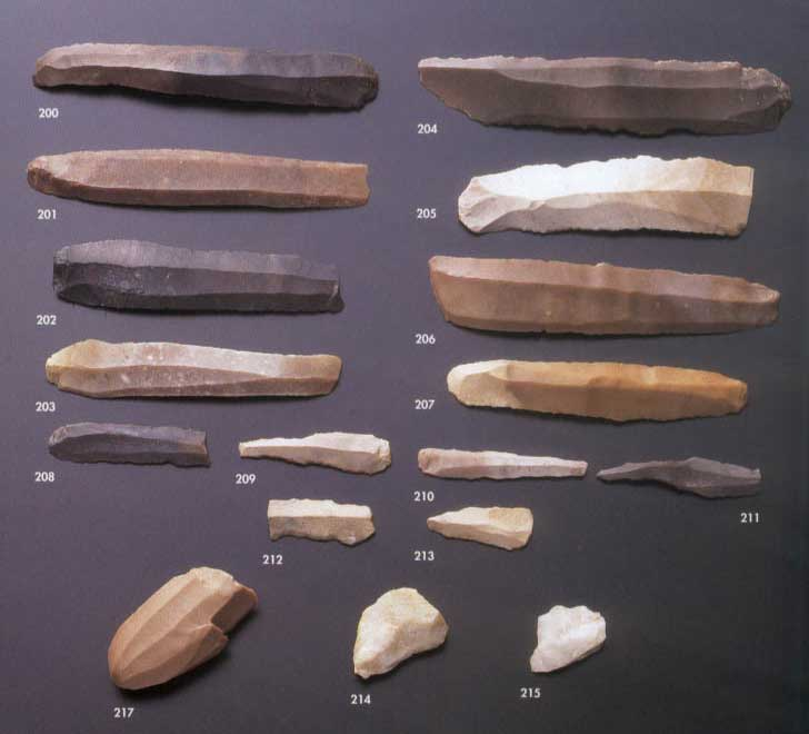 ابزارهای سنگی ساختهی دست انسانهای نخستین